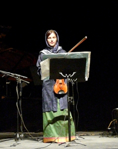 Barbara Lüneburg performing at the Fadjir Festival, Tehran, Iran