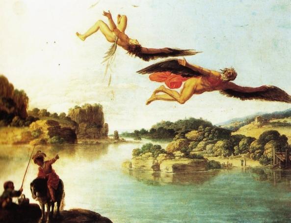 Paesaggio con caduta di Icaro (Carlo Saraceni, 1606-07)